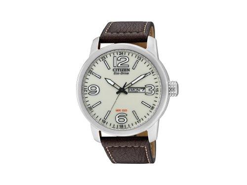 Citizen BM8470-03A – Reloj analógico de cuarzo para hombre, correa de piel de borrego color marrón