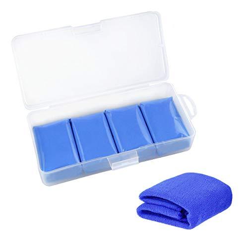Fixget Auto Reinigungsknete, 5Pcs Magic Clay Bar Reiniger 400g Bonus mit Mikrofaser Reinigungstuch mit Aufbewahrungsbox