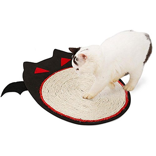 ching Pad Sisal Cat Scratch Mat Pet Play Toy Grinding Claw Toy Carpet Sisal Scratcher Halloween Bat Pet Supplies ()