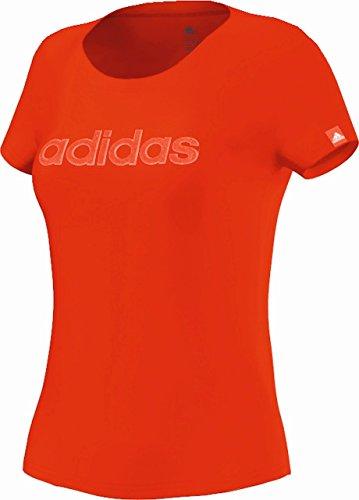 adidas T-shirt da donna Glam Maglietta da donna, Rosso (rosso), XS Rosso - rosso