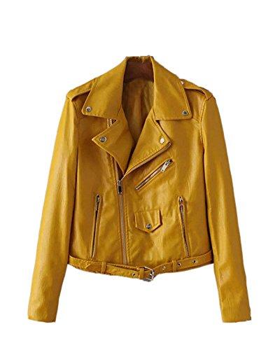 saideng-donna-punk-stile-jacket-moto-pu-pelle-giacca-a-manica-lunga-giallo-s