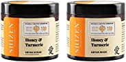 SHIZEN Honey & Turmeric Ubtan Mask (150ml) and Honey & Turmeric Ubtan Scrub (100gm)/Glowing Skin/Facia