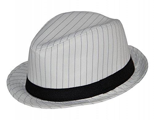 er 20er Jahre Nadelstreifen Hut, Größe:58 (Nadelstreifen Kostüm)
