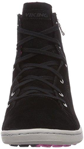 Viking Gjevjon W Gtx, Baskets hautes femme Noir - Schwarz (Black/Dark Pink 239)