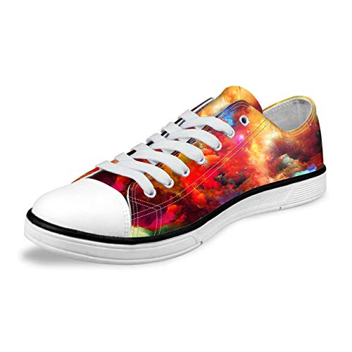 Galaxy Designs Mens Low Tops Sneakers Canvas Shoes Casual Lace up Walking Loafer 2 Multicolor 6.5 Bass Loafers Men