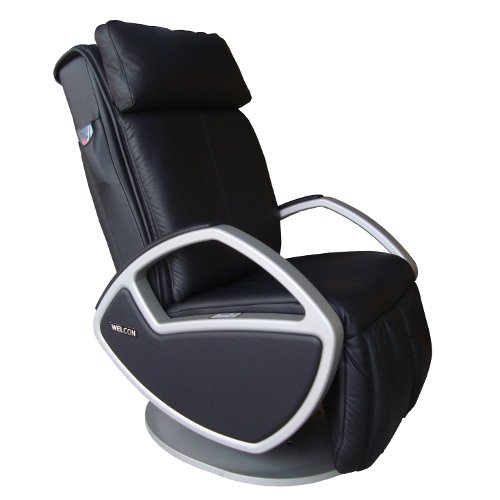 Design Massagesessel | Massagestuhl Leder schwarz mit Shiatsu Massage Welcon Space by Keyton - auch als Fernsehsessel, Relaxsessel, Relaxliege oder Ruhesessel einsetzbar - Möbel für luxuriöses Wohnen in schöner Optik für Ihr Wohnzimmer