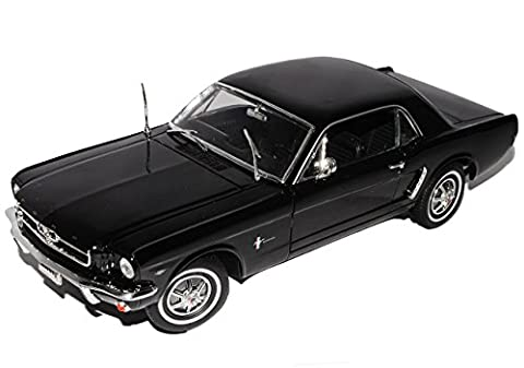 Ford Mustang Coupe, schwarz, 1964, Modellauto, Fertigmodell, Welly 1:18