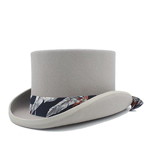 nk-Hut mit blauem Muster-Tuch-Hut für Frauen-Hut-Kostüm-Hüte Sommerhut im Freien (Farbe : Grau, Größe : 59cm) ()