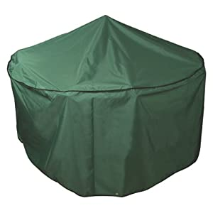 Bosmere P015 Premier 4 Seat Circular Patio Set Green Cover