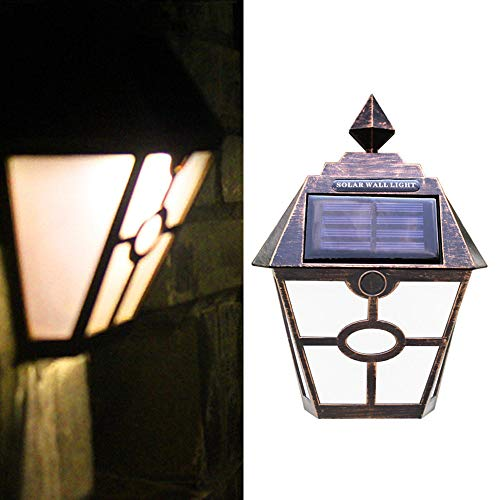 MMLC Outdoor Garden Solar Mosaic Landscape Path Lights Lamp Post Deck- Warm White ,Solar Charging time: 6-8 Hours,Size: Approx19×14cm (Warm White)
