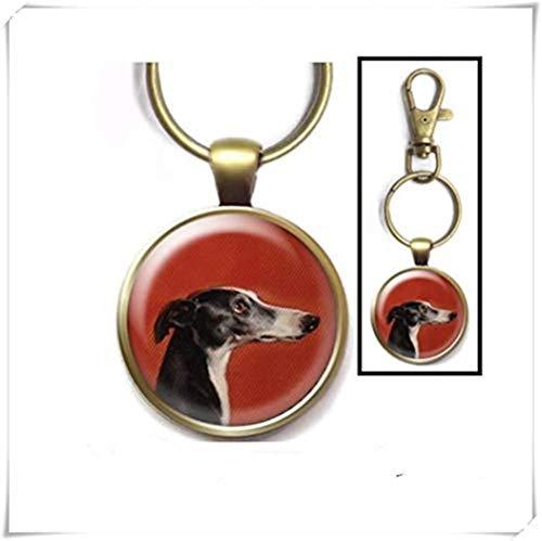 Heng Yuan Cheng Clásico Greyhound Llavero Galgo Arte