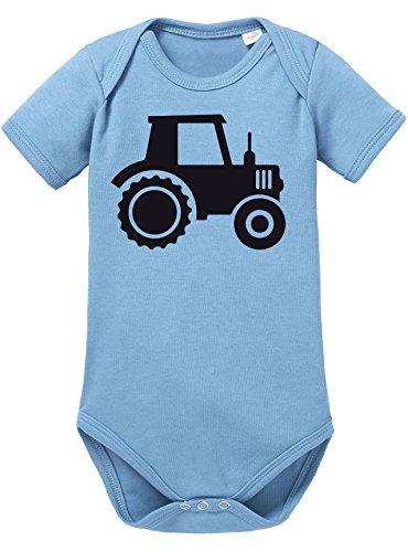 Bauer Kostüm Kid - Angry Shirts Traktor - Aufdruck für Landwirtschaft begeisterte Kinder - Bio Baby Kurzarmbody