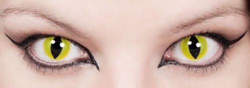 Kontaktlinsen ohne Sehstärke Motivlinsen Katze Katzenauge Halloween