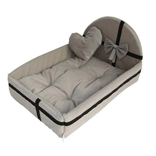 probeninmappx Haustier-Haus-Nest mit Mat Warm Small Medium Hunde Abnehmbare Matratze Katze-Bett-Hundewelpen Kennel -