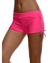 Imixcity Shorts de Natación para Deportes Acuáticos para Mujer Bikini Bottoms Traje de Baño Pantalones Cortos