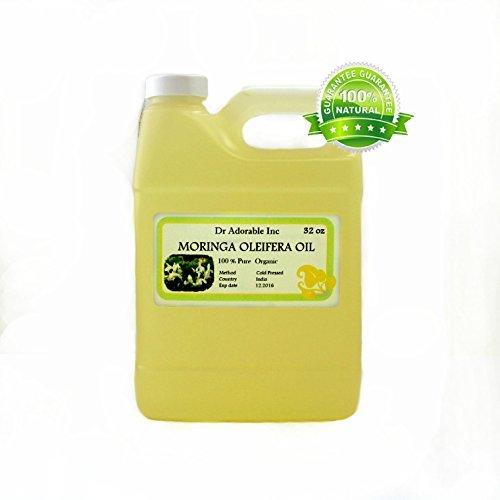 MORINGA OLEIFERA OIL BY DR.ADORABLE 100% PURE ORGANIC COLD PRESSED 32oz/1 QUART