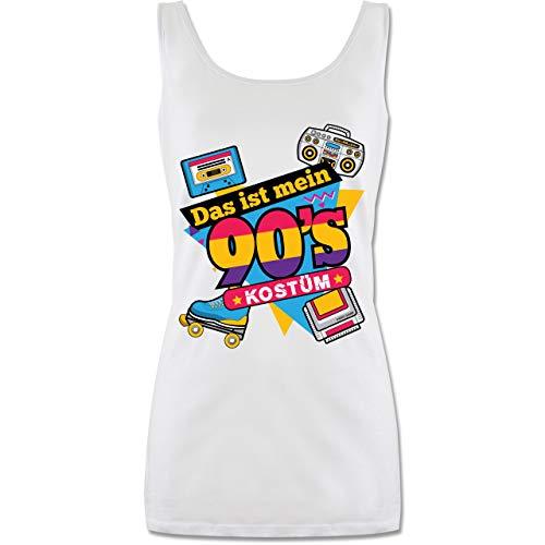 Shirtracer Karneval & Fasching - Das ist Mein 90er Jahre Kostüm - M - Weiß - P72 - Tanktop für Damen und Frauen Tops