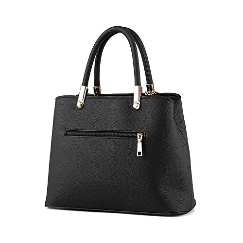 Toopot Sacchetto di spalla di cuoio della borsa di cuoio di Pu Può semplice semplice delle donne CIELO BLU