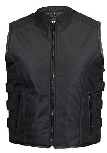 Textil Bikerweste in schwarz (XL)