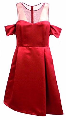 Abito Donna PINKO MISSING 1 Unito Corto Autunno Inverno 2016 Rosso 46