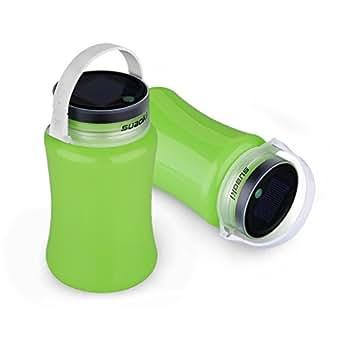 [2015 Nuovo Rilascio] Suaoki™ 4 in 1 Lanterna da Campeggio Solare - Ricaricabile Lampada/LED Luci USB/Drift Bottle/Contenitori di Stoccaggio (Verde)