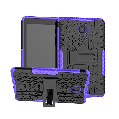 Dooge Schutzhülle für Galaxy Tab A 8.0 2018, stoßfest, robust, Rutschfest, stoßdämpfend, mit integriertem Ständer, für Samsung Galaxy Tab A 8.0 2018 SM-T387 Verizon/Sprint/T-Mobile, violett