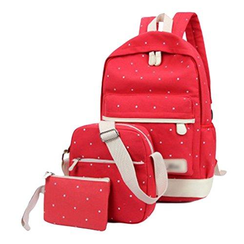 Sentao Donna Punto Zaino Casual Scuola Set 3pcs Daypacks / Tela Zaini Ragazza / Messenger Bag/Portafoglio