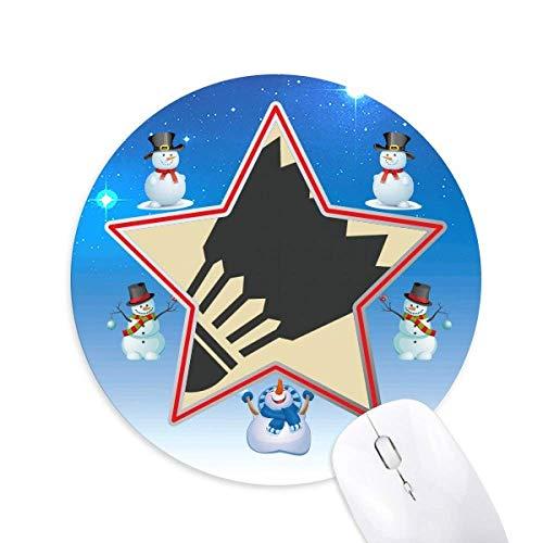 Badminton Sport Simple Geometry Pattern Snowman Mouse Pad Round Star Mat