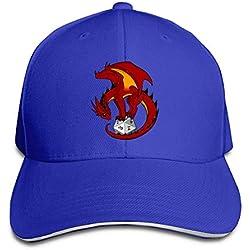 Gorra de Camionero,Dados Dragón Algodón Ligero Ajustable Gorra de béisbol con Gorra Sándwich Sombrero Hombres Mujeres