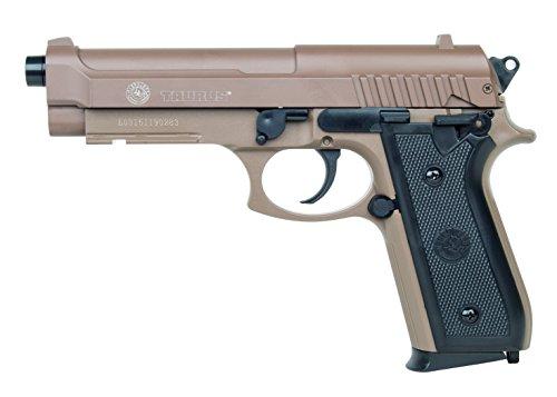 Softair Pistole Taurus PT92 tan mit Metallschlitten, Kal. 6mm BB, Federdruck-System <0.5 Joule, 210117