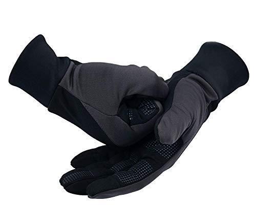 OZERO WinterHandschuhe,Thermo Softshell Handschuhe mit Anti-Rutsch Palme,Touchscreen-Fingerspitzen Und Warme Futter für Wandern,Lauf,Radfahren,für Damen