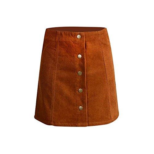 Etosell Femmes Retro A-Line Des Taille Haute Velours Cotele Mini Jupe