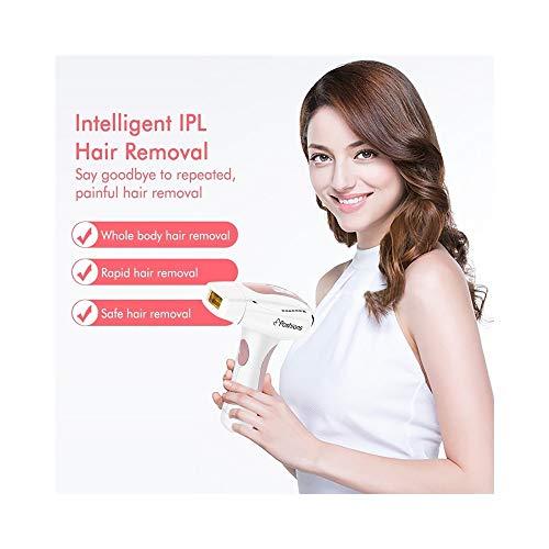 QRFDIAN Dispositivo de eliminación de vello para mujeres, hombres, removedor de cabello, depilación IPL 2 en 1, 400.000 flash con pantalla LED Belleza Rejuvenecimiento de la piel, depiladora eléctrica