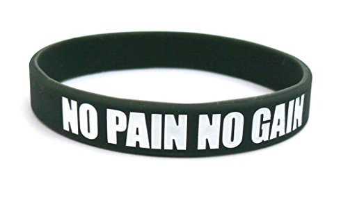 Fitness & Bodybuilding Sportwristband No Pain No Gain Training Workout Sports Gym CrossFit Equipment Accessories Silicone Rubber Band Wristband Bracelet Unisex New