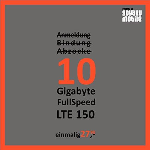 Mobiles Internet Simkarte Prepaid mit 10 GB LTE für Österreich SIM einfach Einlegen & Lossurfen (Prepaid Tmobile Handys)