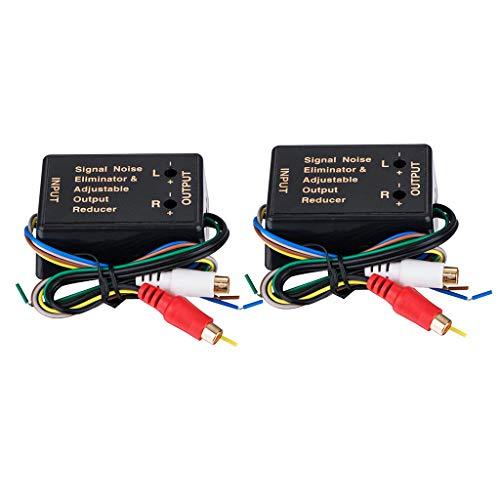Baoblaze Convertisseur Audio Voiture Convertisseur Accessoires Niveau Bas Haut Niveau RCA