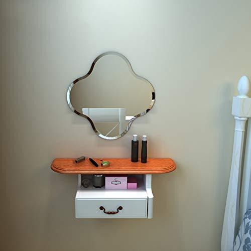 Toletta trucco a parete con il cassetto mensola a muro scaffale galleggiante cosmetico gioielli immagazzinamento mensola armadio di stoccaggio comodino in legno