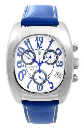 Lancaster 0289WBB - Reloj cronógrafo de cuarzo para hombre con correa de piel, color azul