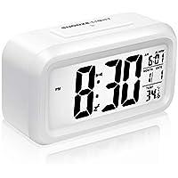 Reloj Despertador Digital, Mogomiten Reloj Despertador Inteligente con Alarma para Niños, Reloj Repeticion activada por Snooze, Sensor de luz, Temporizador Despertador, Gran Pantalla HD, Pantalla de Fecha y Temperatura, Configuración Simple y Conveniente para la Vida