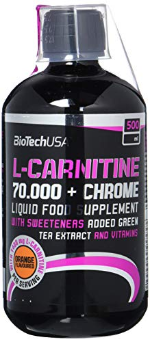 Biotech USA L-Carnitine 70.000 + Chrome 500 ml Carnitine - Orange -