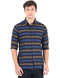 Navy Blue Stripes Full Sleeve Casual Shirt