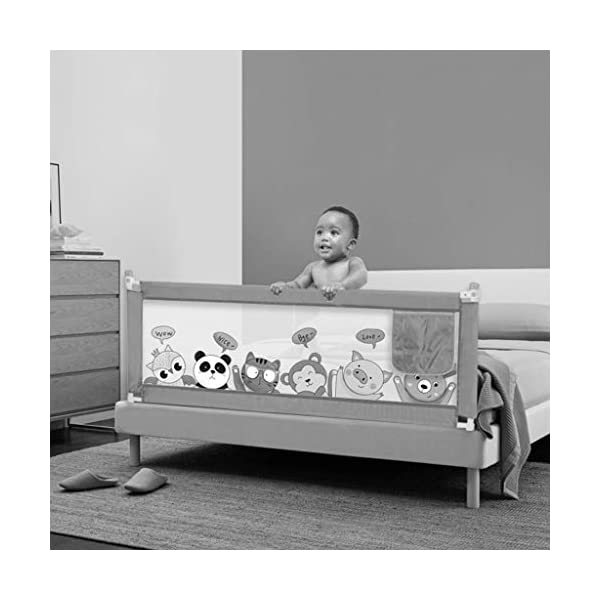 Playpens Crib Guardrail Baby Shatter-resistant Fence Large Bed 1.5-2.0 Meters Children Against Bedside Baffle (color : D, Size : 1.8m) Playpens ★ high quality non-toxic materials,Size:150cm/180cm/200cm ★ Vertical lift structure: no space is occupied, and it is more convenient to enter and exit. Push the fence down at the push of a button ★ height adjustment: can be adjusted according to the thickness of the mattress, so that the bed is close to the mattress. Avoid gaps between the mattress and the guardrail to prevent your child from falling 2
