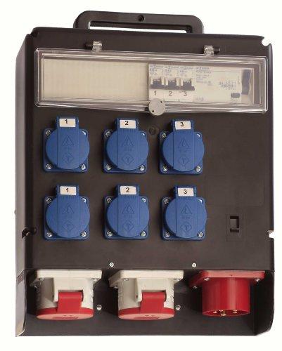 as - Schwabe 60509 Stromverteiler 400V FIXO II, IP44 Gewerbe, Baustelle