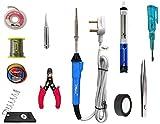 Hillgrove 11In Biggners Complete 25W Soldering Iron Kit, Tweezer, Iron Stand, Soldering Paste
