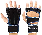 Spike Premium Leather Fitness Gym Gloves with Wrist Support Grip and Breathable Glove Design Used for Weight Lifting, Pull Up, Crossfit, Cycling, Driving, Fitness, Gym Training.