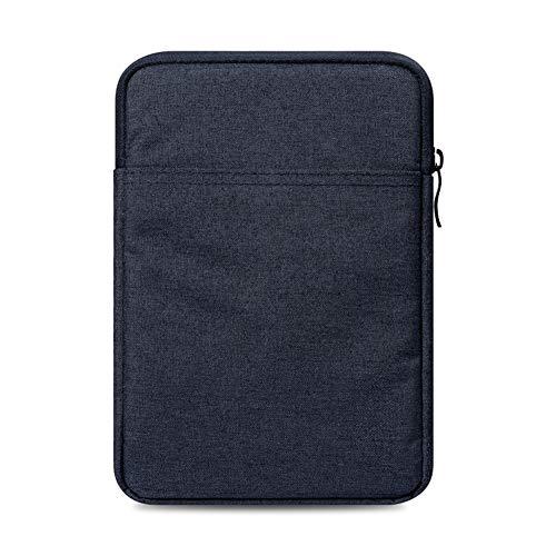 Kentop Sleeve Hülle eBook Reader Tragbare Leinwand Schutzhülle mit Reißverschluss für Amazon Kindle Paperwhite/Voyage/6 inch Kindle Oasis (Dunkelgrau)