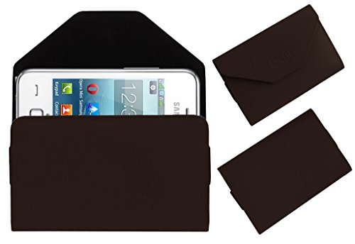 Acm Premium Pouch Case For Samsung Rex 80 S5222r S5222 Flip Flap Cover Holder Brown  available at amazon for Rs.329