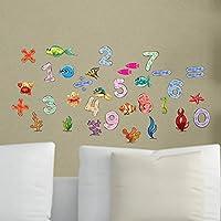 QWEDSA Cartoon Fish Mathaematics Number Home Decor for Kids Room Art PVC Vinyl Wall Sticker Newest Wall Decals Children Gifts