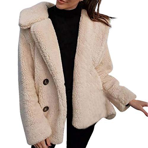 Innerternet Damen Herbst Winter Jacke Einfabige Umlegekragen Mantel Elegante Frauen Warme Faux Pelzmantel Jacke Casual Täglichen Party Parka Oberbekleidung