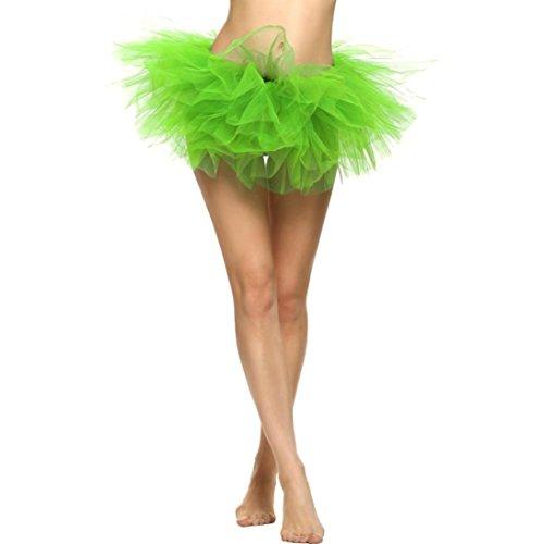 Malloom® Hübsches Mädchen Elastic Stretchy Tüll Kleid Erwachsenen Tutu 5 Schicht Rock (grün)